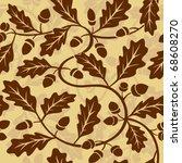 oak leaf acorn seamless... | Shutterstock .eps vector #68608270