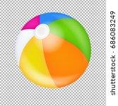 beach ball gradient mesh ... | Shutterstock .eps vector #686083249