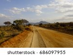 wild nature of africa. kenyan...   Shutterstock . vector #686097955