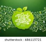 back to school horizontal... | Shutterstock . vector #686115721
