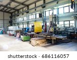 machinery in manufacturing... | Shutterstock . vector #686116057