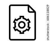 setting file  | Shutterstock .eps vector #686118829