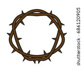 crown of thorns | Shutterstock .eps vector #686120905
