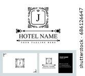 luxury logo template in vector...   Shutterstock .eps vector #686126647