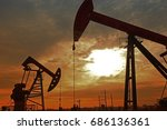 the oil pump  industrial... | Shutterstock . vector #686136361