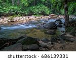 river flows in the jungle of... | Shutterstock . vector #686139331