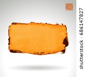 brush stroke and texture.... | Shutterstock .eps vector #686147827