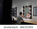 portrait of handsome young man... | Shutterstock . vector #686151001