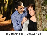 happy valentine 's day  two... | Shutterstock . vector #68616415