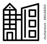 building line vector icon  | Shutterstock .eps vector #686168365