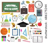 school and education workplace... | Shutterstock . vector #686175244