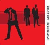 sad businessman in trouble.... | Shutterstock . vector #68618485
