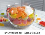 Glass Bowl With Tasty Candies...