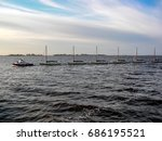 sailboat | Shutterstock . vector #686195521