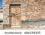An Simple Faded Wooden Door...