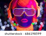 fantastic video of sexy cyber... | Shutterstock . vector #686198599