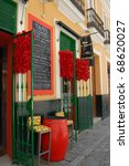 Colorful Tapas bar in Spain - stock photo