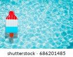ice cream pool float  ring...   Shutterstock . vector #686201485