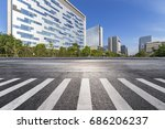 empty road with modern business ... | Shutterstock . vector #686206237