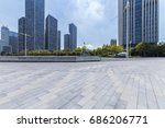 empty floor with modern... | Shutterstock . vector #686206771