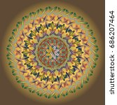 new colorful sewing mandala for ... | Shutterstock .eps vector #686207464