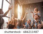 attractive young people...   Shutterstock . vector #686211487