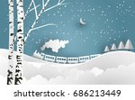 vector illustration of snow.... | Shutterstock .eps vector #686213449