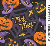 halloween day   vector... | Shutterstock .eps vector #686221651