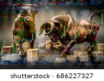 bull market investment chance.... | Shutterstock . vector #686227327