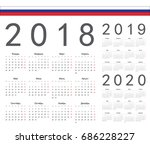 set of russian 2018  2019  2020 ... | Shutterstock .eps vector #686228227