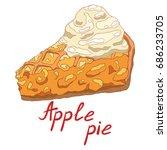 hot delicious piece of apple... | Shutterstock .eps vector #686233705