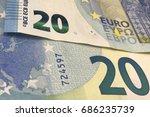 Banknote Of Twenty Euro Money...