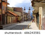 cuenca colonial downtown  ... | Shutterstock . vector #686243581