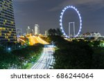 singapore flyer  singapore   15 ... | Shutterstock . vector #686244064