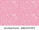 vector art baby stuff. light... | Shutterstock .eps vector #686251591