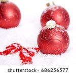 christmas background with a... | Shutterstock . vector #686256577