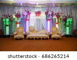 Wedding Stage With Floral...