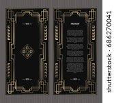 vector geometric cards in art...   Shutterstock .eps vector #686270041