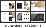 design magazinet  cover  vector ... | Shutterstock .eps vector #686280445