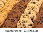 Assorted Cookies In Rows  Full...