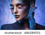 portrait of beautiful woman... | Shutterstock . vector #686284531