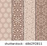 set of modern floral pattern of ...   Shutterstock .eps vector #686292811