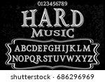 font handwritten vector... | Shutterstock .eps vector #686296969