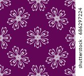 seamless patern of Bright geometric Backgrounds in floral style. For greeting cards, invitations, cover book, fabric, scrapbooks. purple color