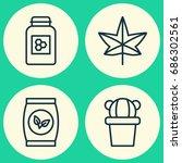 Gardening Icons Set. Collectio...