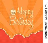 happy birthday. vector...   Shutterstock .eps vector #686305174