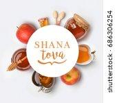 jewish holiday rosh hashana... | Shutterstock . vector #686306254
