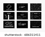 vector set of creative business ... | Shutterstock .eps vector #686311411