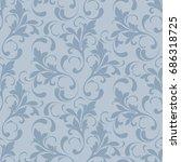 floral seamless pattern. soft... | Shutterstock .eps vector #686318725