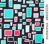 colorful frames. seamless...   Shutterstock .eps vector #686323234